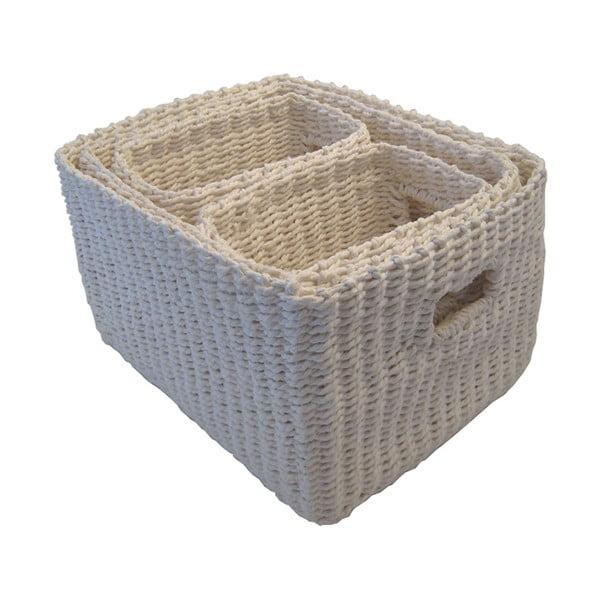 Sada 4 košíků Regate Grey, 32x26 cm