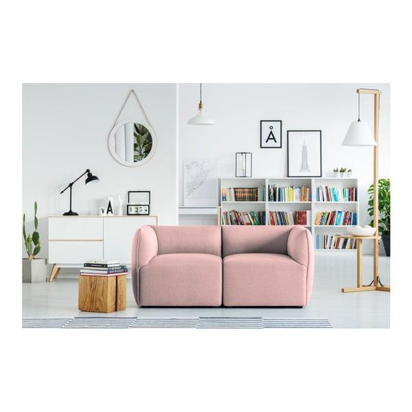 Růžová modulová dvoumístná pohovka Norrsken Ollo