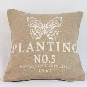 Potah na polštář Planting 40x40 cm, světlý