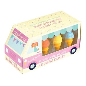 Sada 6 gum na gumování Rex London Ice Cream