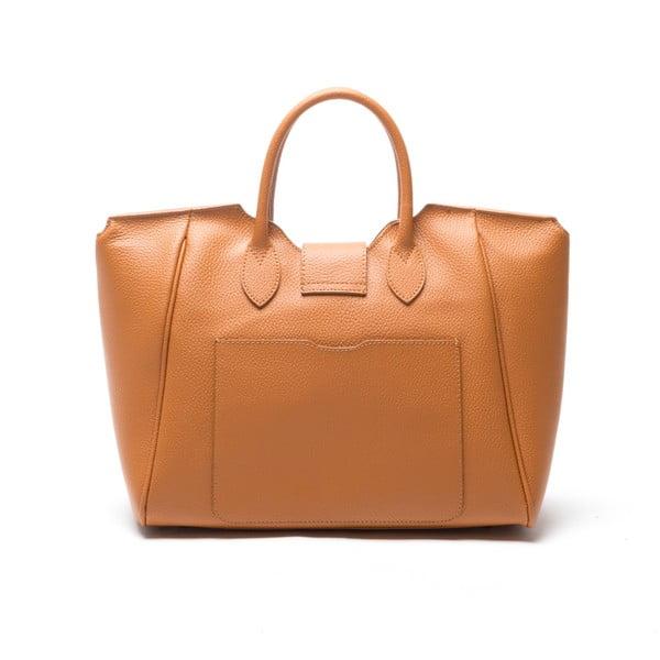 Kožená kabelka Anna Luchini 1134 Cognac