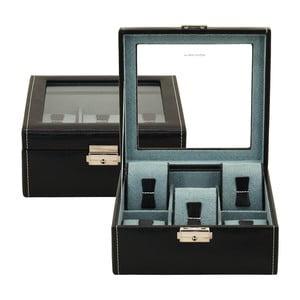 Černý box na šestero hodinek Friedrich Lederwaren Bond