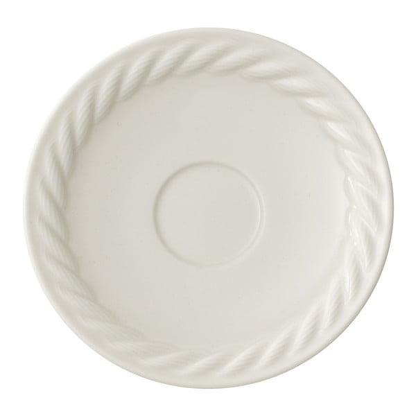 Biały porcelanowy spodek pod espresso Villeroy & Boch Montauk, 12 cm