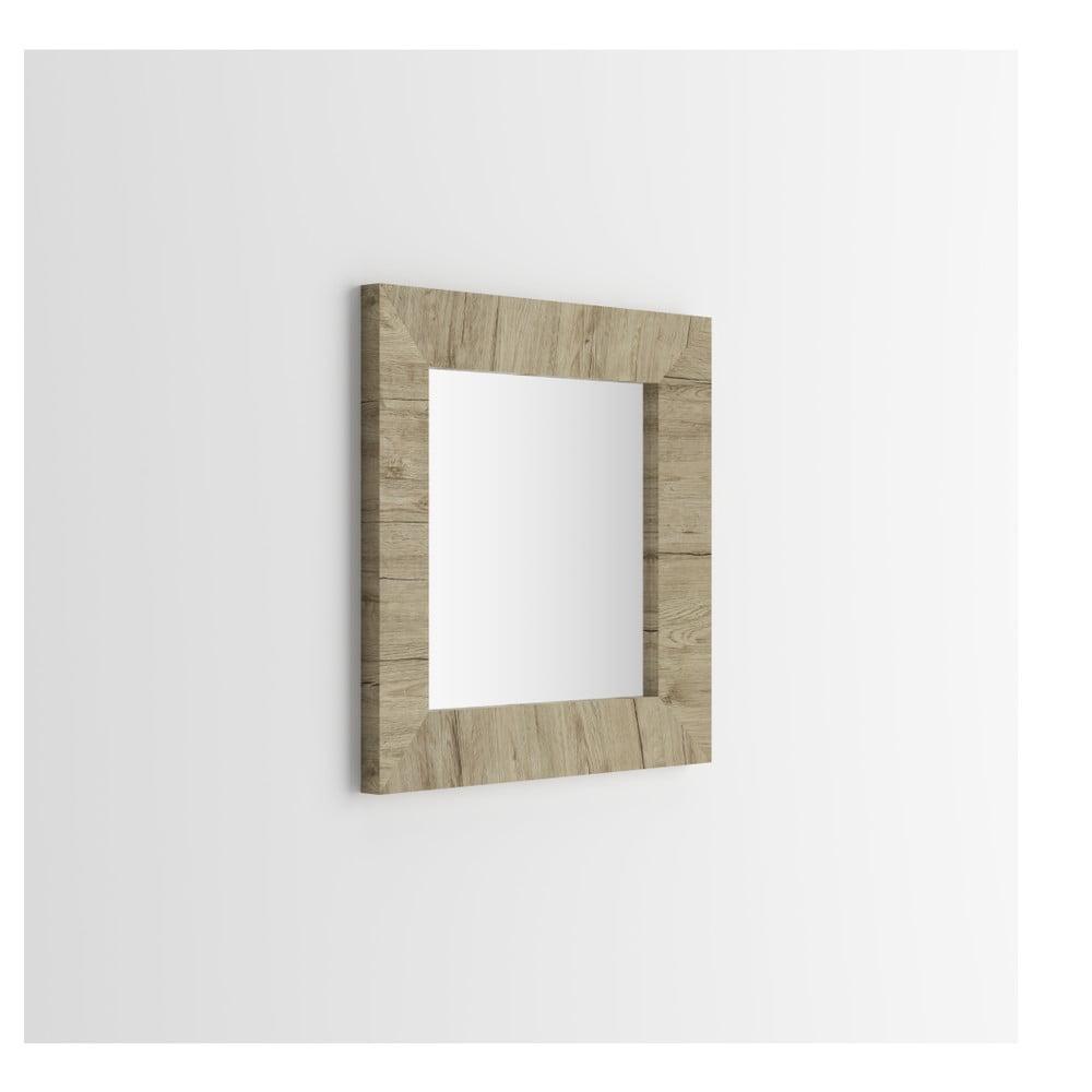 Zrcadlo v dekoru dubu sherwood MobiliFiver Giuditta, 65x65cm