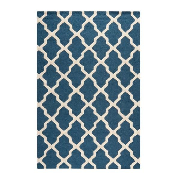 Vlnený koberec Ava Navy, 182x274 cm