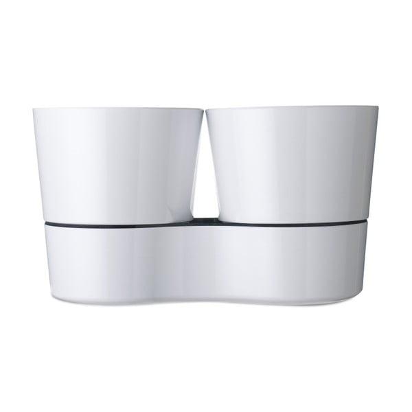 Hydro Herbs fehér dupla fűszernövénytartó kaspó - Rosti Mepal