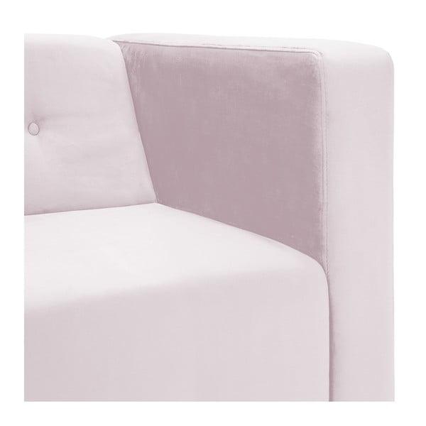 Světle růžové křeslo Vivonita Milo