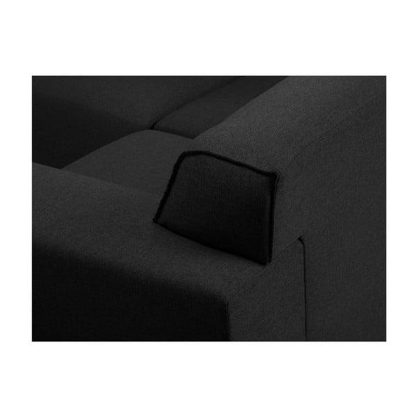 Tmavě šedá rohová čtyřmístná pohovka Cosmopolitan Design Seville, pravý roh