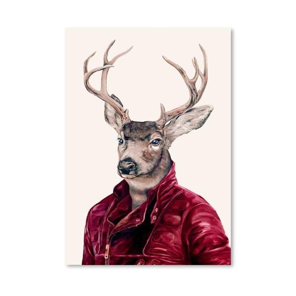 Plakát Deer, 30x42 cm