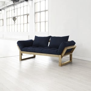 Sofa Edge navy/natural