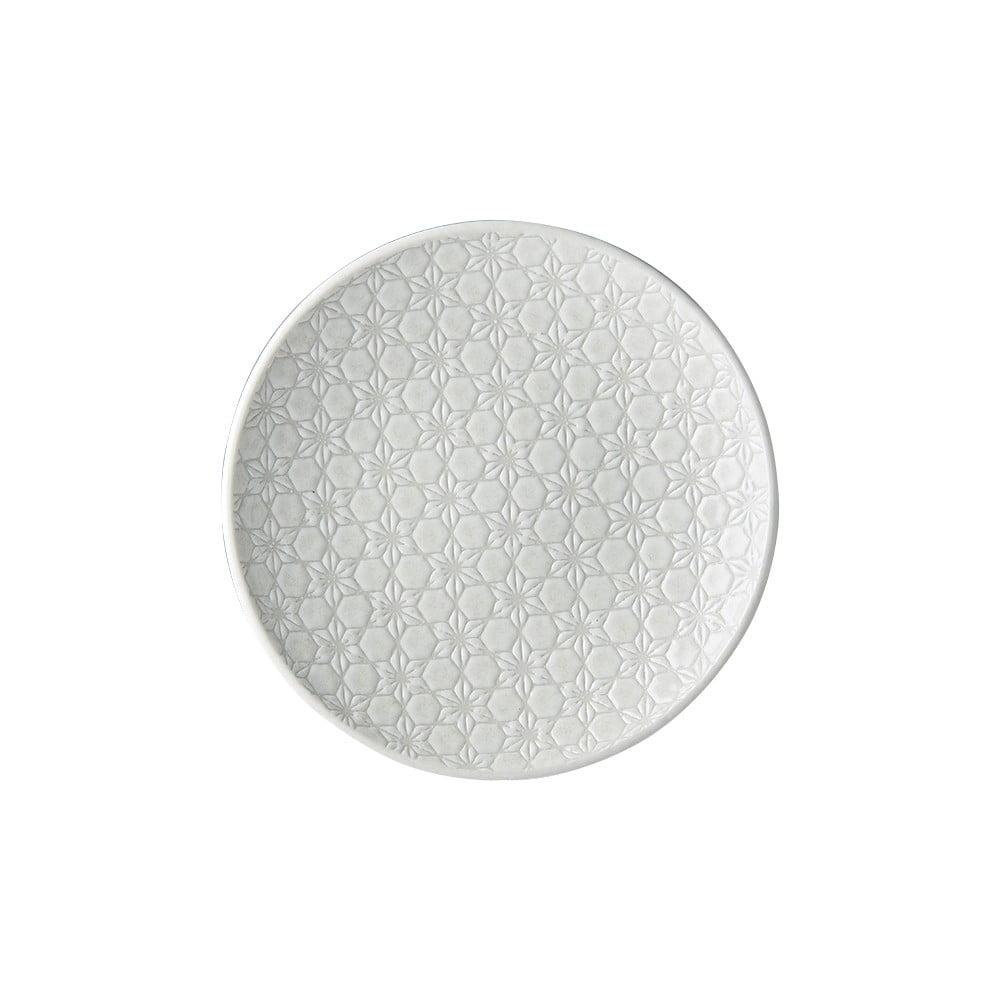Bílý keramický talíř MIJ Star, ø20 cm