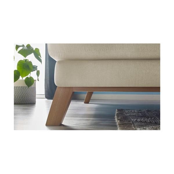 Béžová třímístná pohovka s lenoškou Bobochic Paris Seattle, levý roh