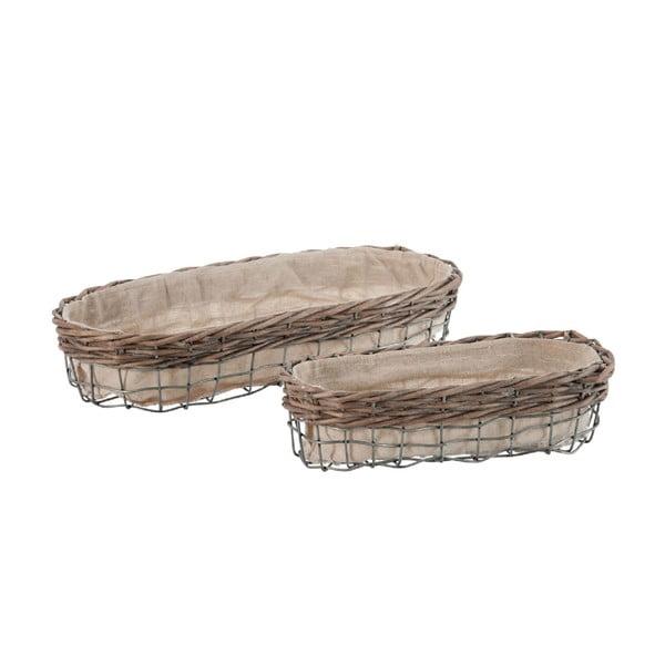 Sada 2 oválných košíků Reed