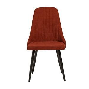 Set 2 scaune Marckeric Mina, roșu închis