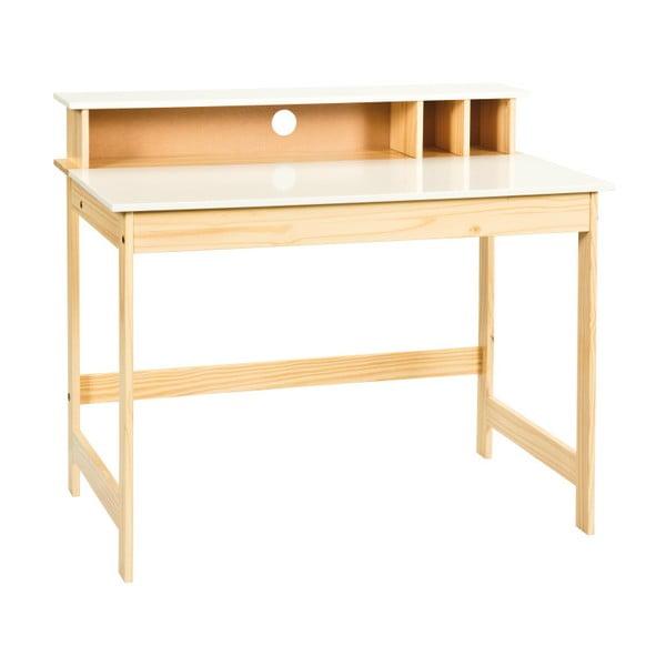 Pracovní stůl z masivního borovicového dřeva Interlink Gudjam