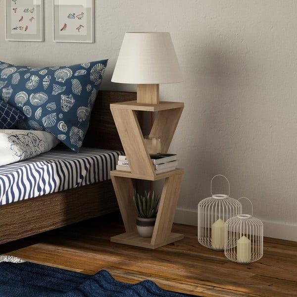 Volně stojící lampa v dekoru dubového dřeva Kozena Oak White