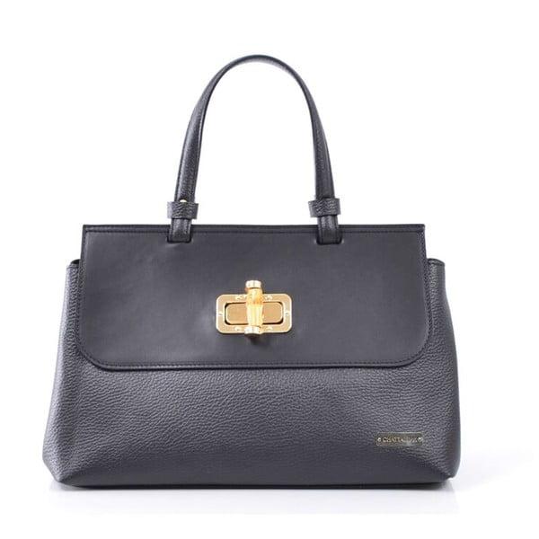 Kožená kabelka Isaure, černá