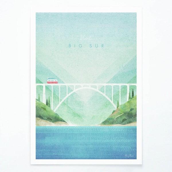 Plakát Travelposter Big Sur, A2