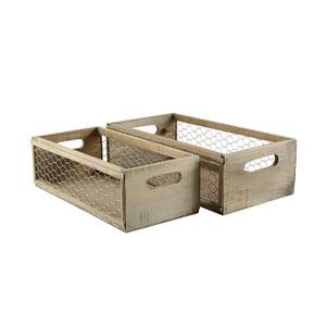 Sada 2 ks dřevěných boxů Net