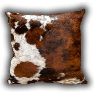 Polštář z pravé kůže Whole Cow, 45x45 cm
