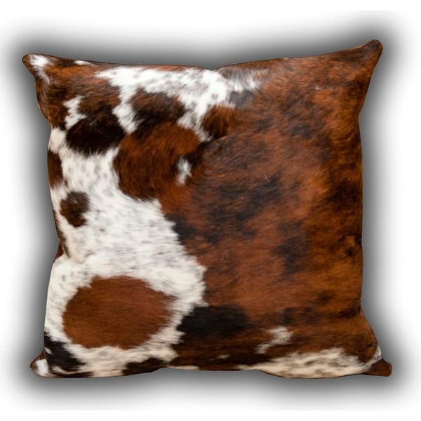 Polštář z pravé kůže Pipsa Whole Cow, 50x50cm
