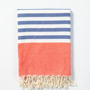 Hamam osuška z ručně tkané bavlny ZFK Laurits, 170x100cm