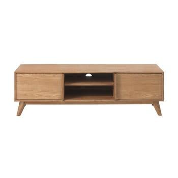 Comodă TV din lemn de stejar alb Unique Furniture Rho