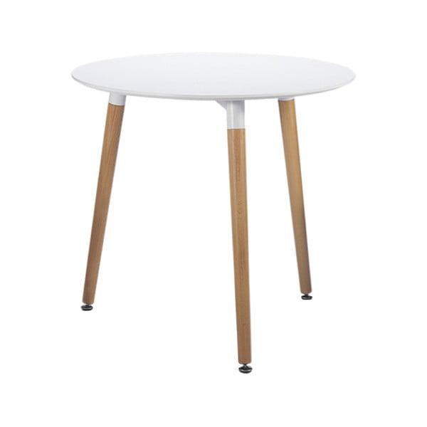 Biely jedálenský stôl Leitmotiv Elementary, ø 75 cm