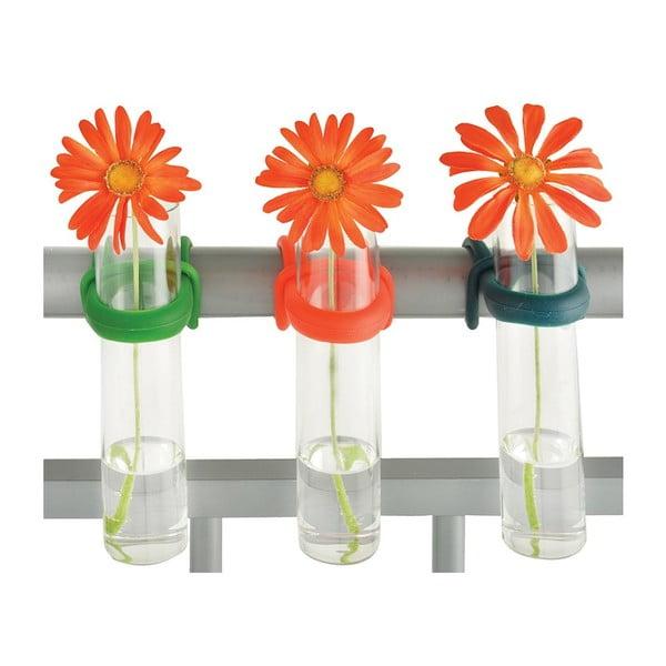 Sada 3 váz na zábradlí Esschert Design Happy