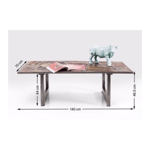 Konferenční stolek z recyklovaného dřeva Kare Design Storm, 140 x 70 cm