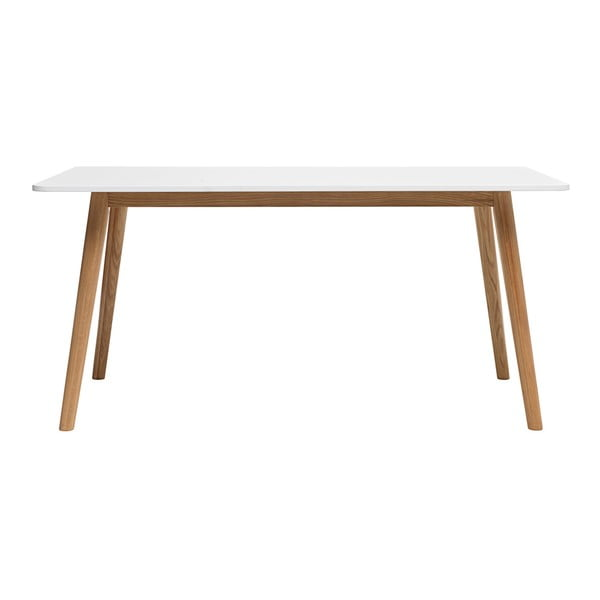 Jedálenský stôl z dreva bieleho duba Unique Furniture Turin