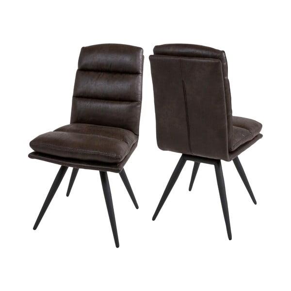 Tmavě hnědá jídelní židle Canett Colle
