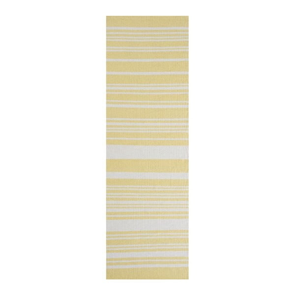 Žlutý bavlněný koberec Linie Design Glorious, 60x90cm