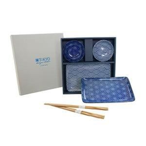 Set talířů a hůlek Nippon Blue Orient, 6 ks