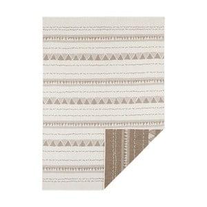 Hnědo-krémový oboustranný koberec vhodný i na ven Bougari Bahamas, 120 x 170 cm