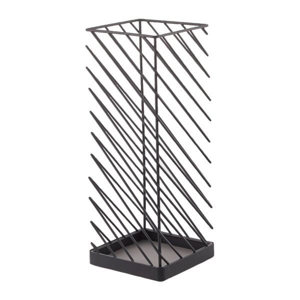 Čierny stojan na dáždniky YAMAZAKI Slash, šírka 18 cm