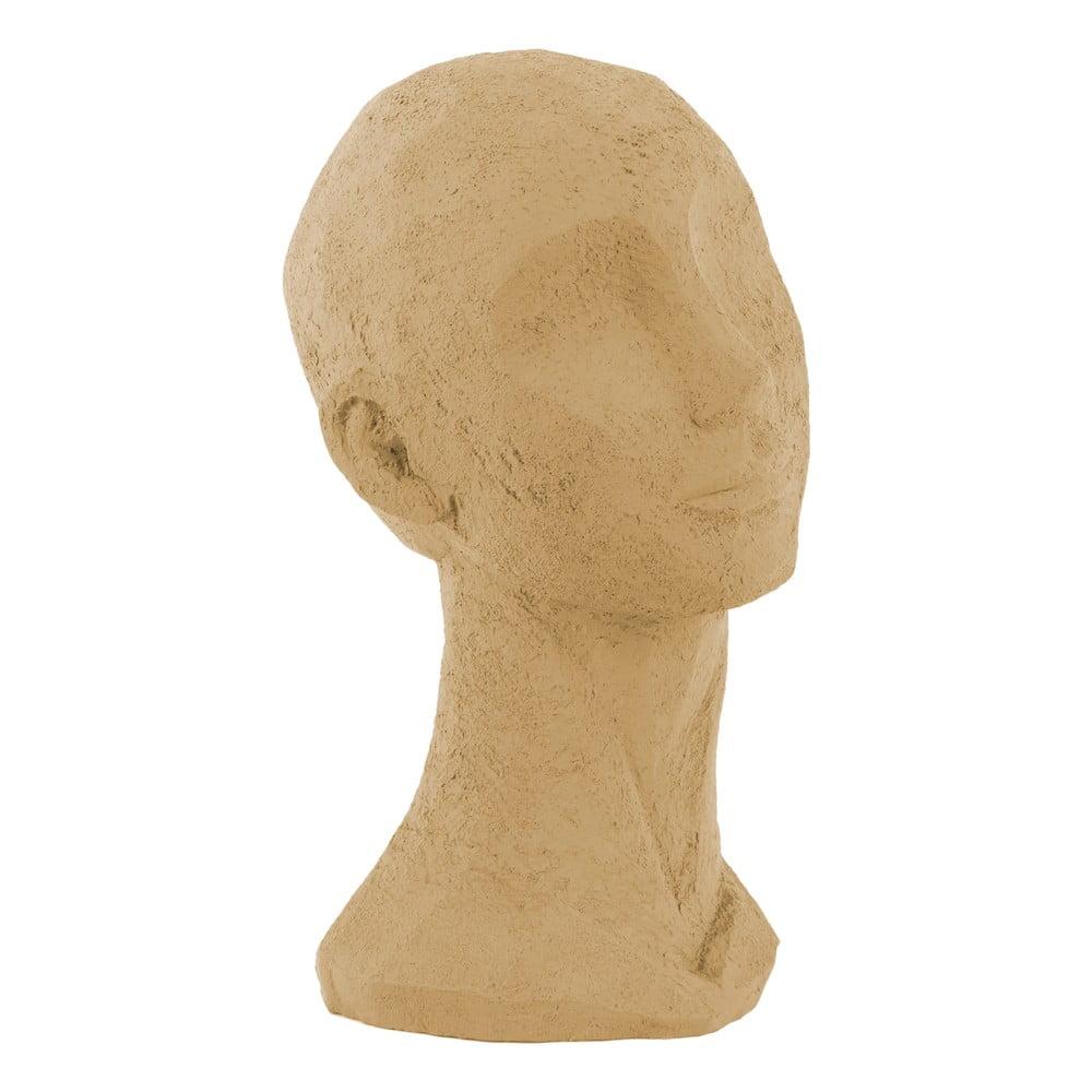 Pískově hnědá dekorativní soška PT LIVING Face Art, výška 28,4 cm