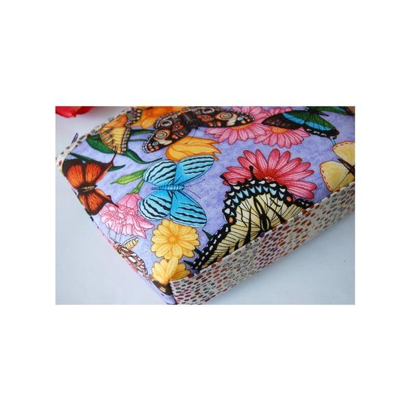 Kosmetická taštička z chráněné dílny Via Roseta, motýlci