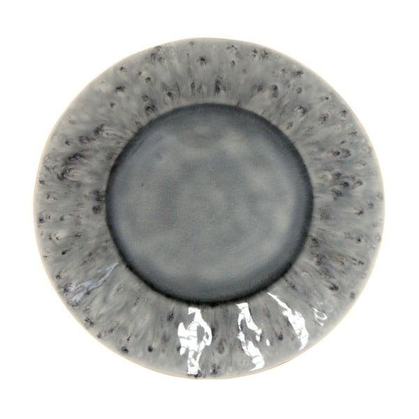 Šedý kameninový talíř Costa Nova Madeira, ⌀ 21 cm