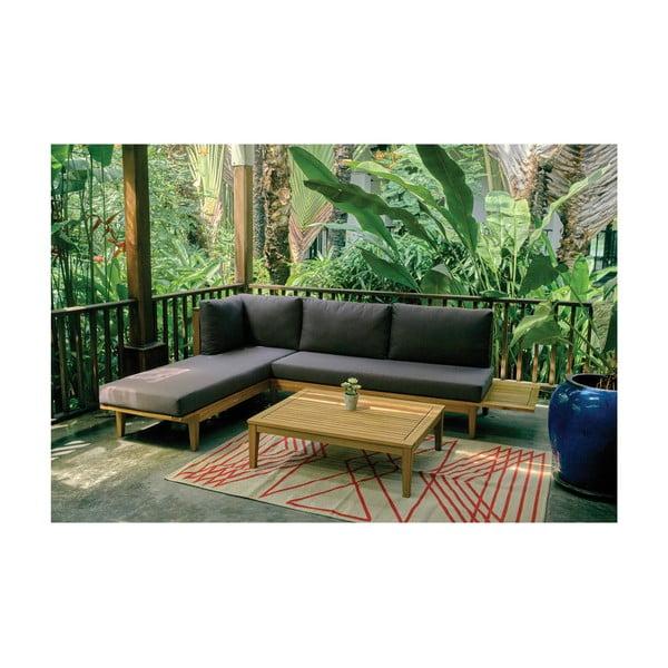 Zahradní pohovka spřídavným stolečkem z exotického dřeva Ezeis Alaia