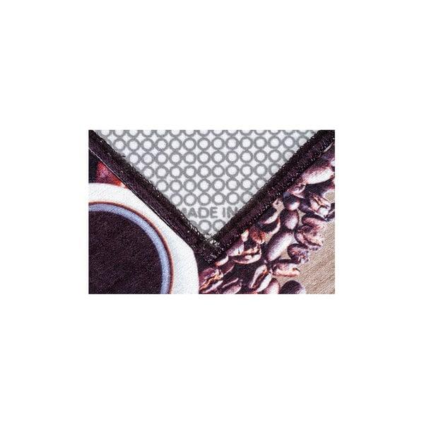 Vysoce odolný kuchyňský koberec Webtappeti Gufocaffe, 60x220 cm