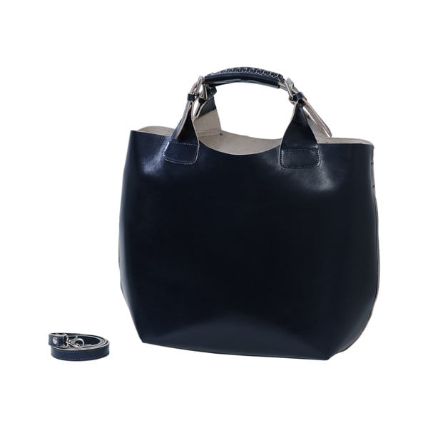 Tmavě modrá kabelka z pravé kůže Andrea Cardone Edoardo
