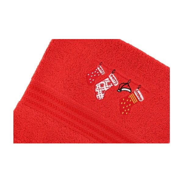 Sada 2 ručníků Corap Red Socks, 50x90 cm