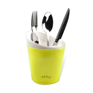 Žlutá dóza na příbory Vialli Design Livo