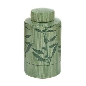 Zelená kameninová váza Santiago Pons Florist, výška 20cm