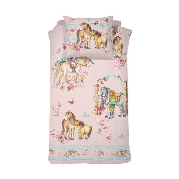 Lenjerie din bumbac satinat pentru pat de copii de o persoană Cinderella Tiamo, 140x200cm