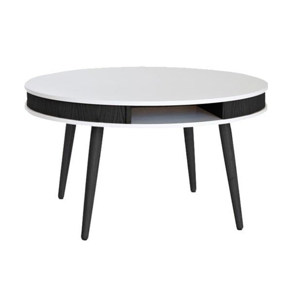 Černobílý konferenční stolek RGE Hugo 90cm