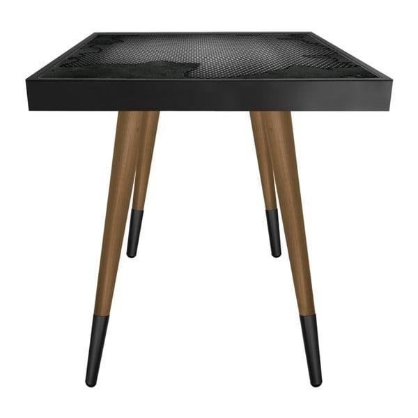 Príručný stolík Caresso Teared Metal Square, 45 × 45 cm