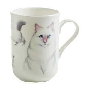 Hrnek z kostního porcelánu Maxwell & Williams Pets Birman, 330 ml