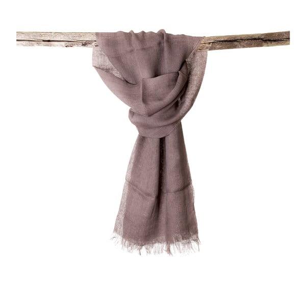 Lněný šátek Luxor 65x200 cm, hnědošedý